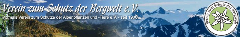 Verein zum Schutz der Bergwelt Banner